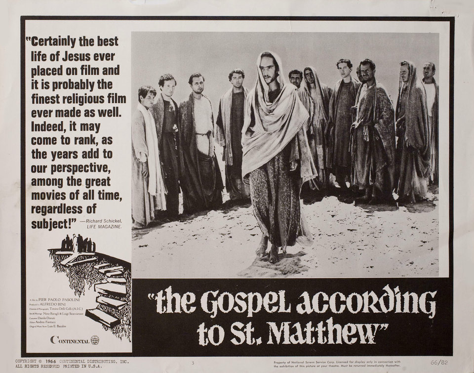 The Gospel According to St. Matthew 1966 U.S. Scene Card