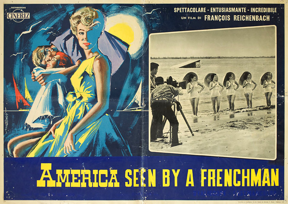 America As Seen by a Frenchman 1961 Italian Fotobusta Poster