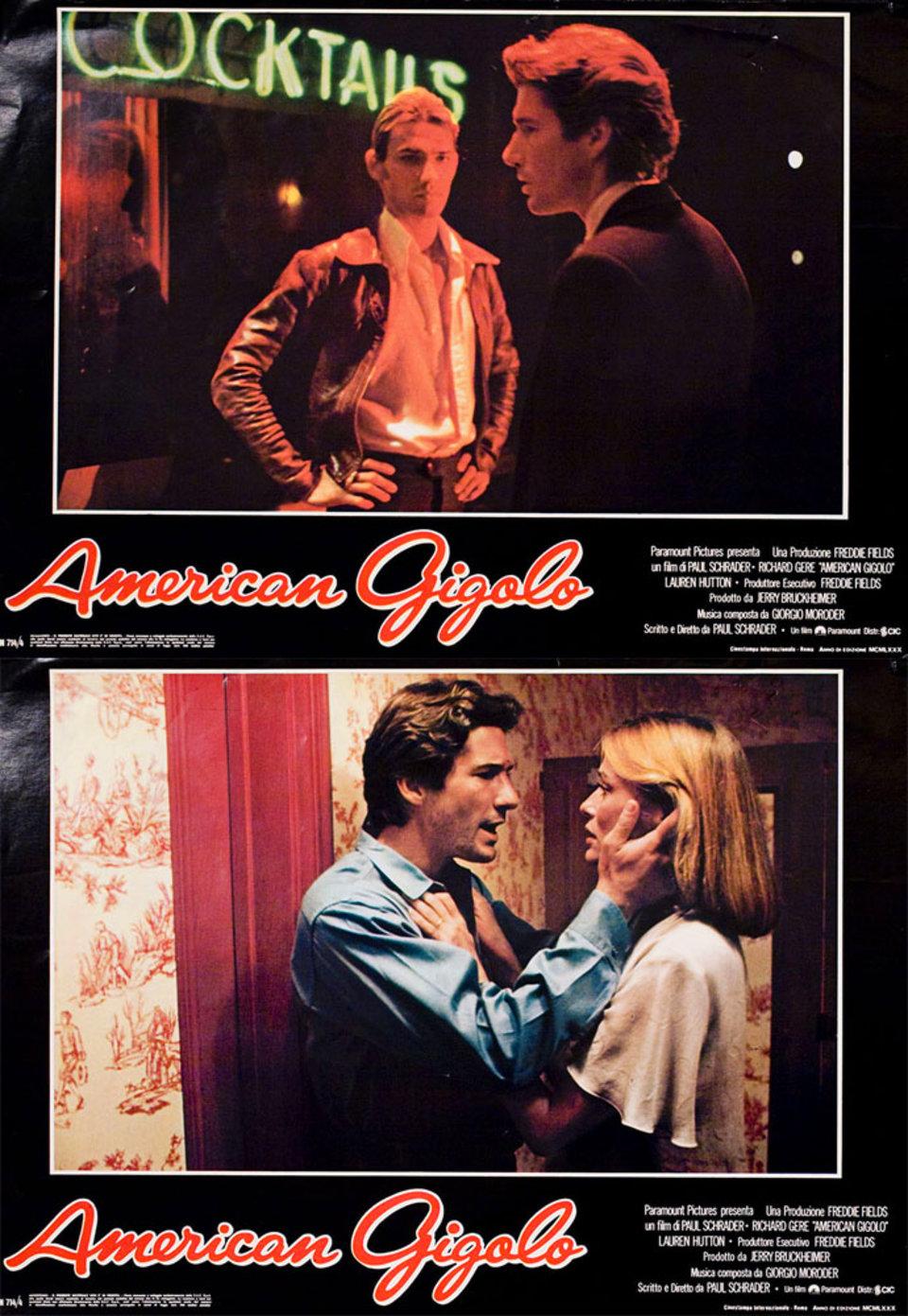 American Gigolo 1980 Italian Fotobusta Poster Set of 8
