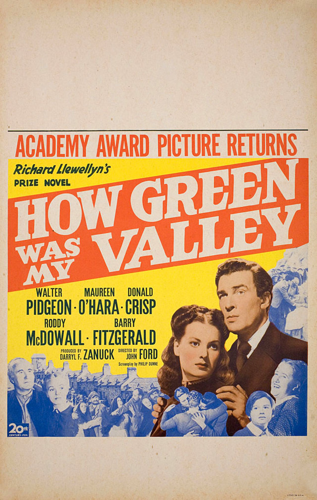 How Green Was My Valley R1946 U.S. Window Card Poster