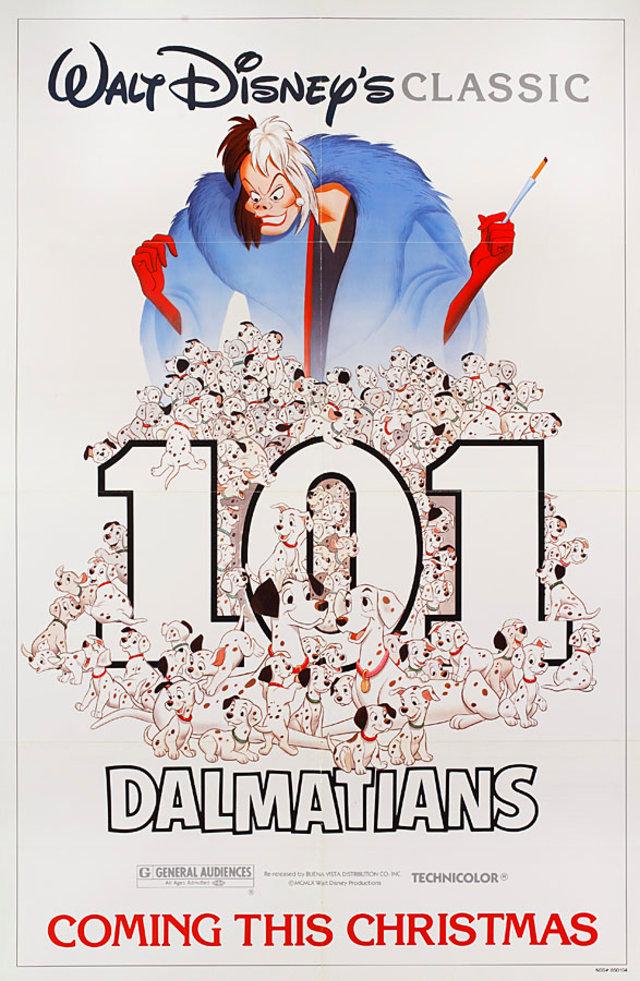 101 Dalmatians R1985 U.S. One Sheet Poster