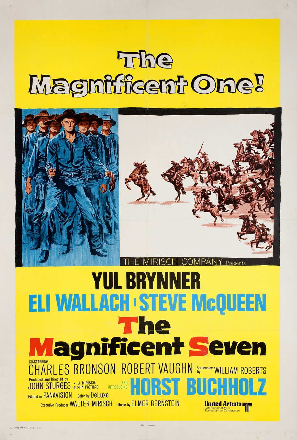 The Magnificent Seven R1971 U.S. One Sheet Poster