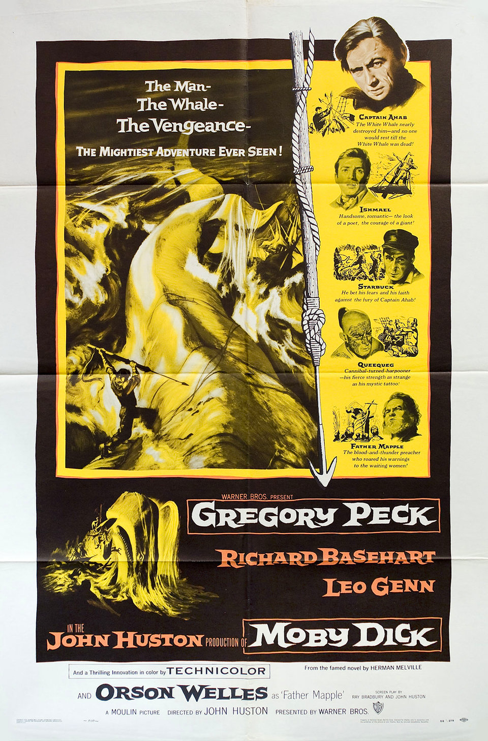 Moby Dick 1956 U.S. One Sheet Poster