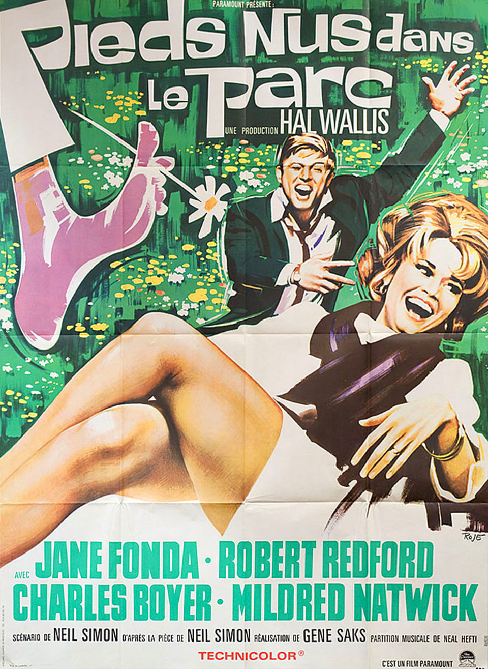 Barefoot in the Park 1967 French Grande Poster