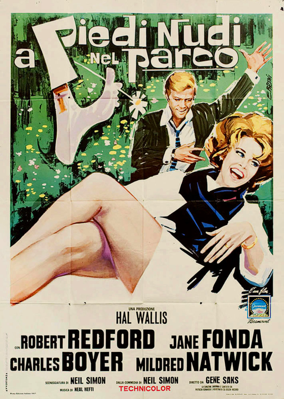 Barefoot in the Park 1967 Italian Due Fogli Poster