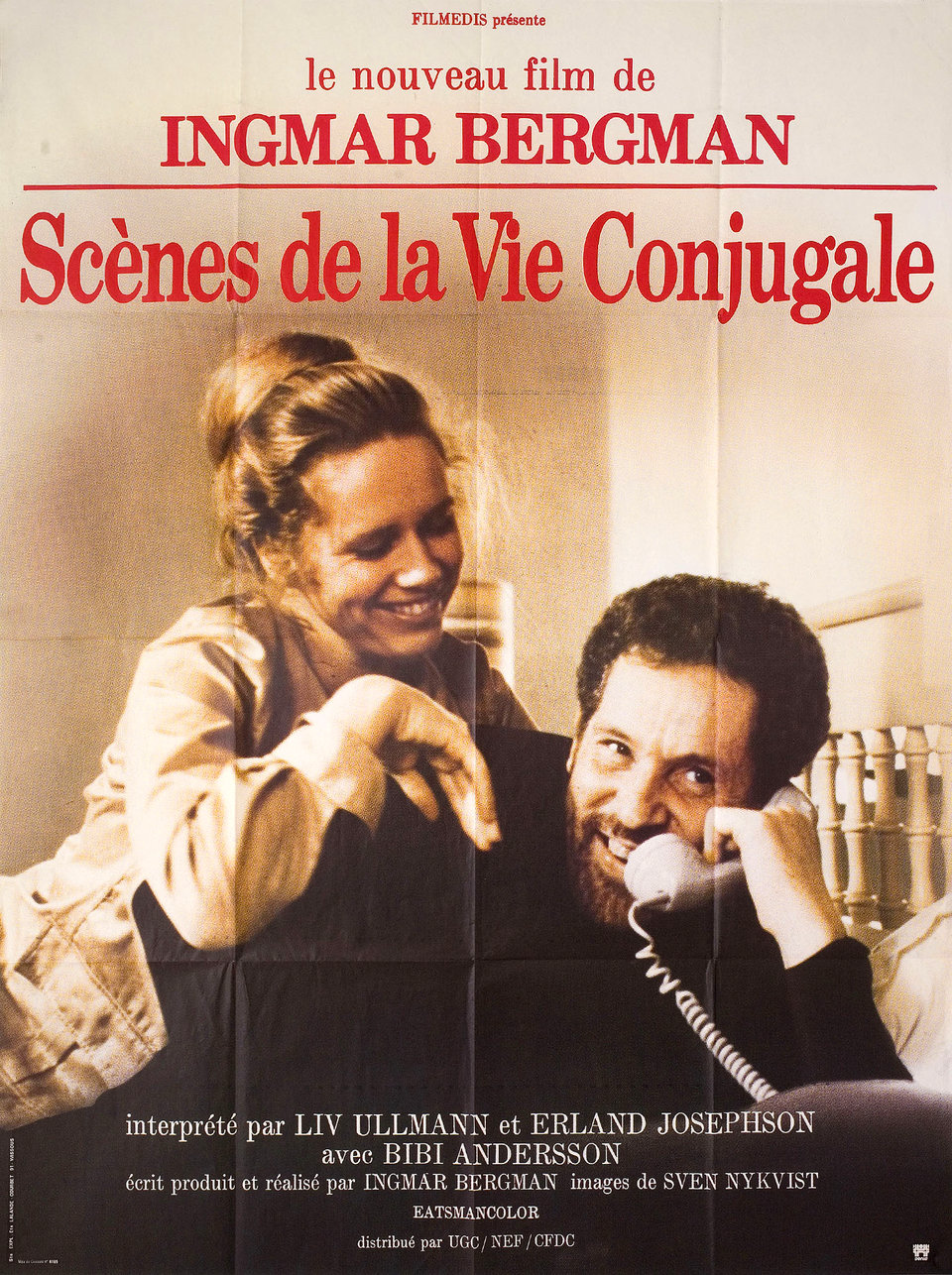 Scenes from a Marriage 1976 French Grande Poster