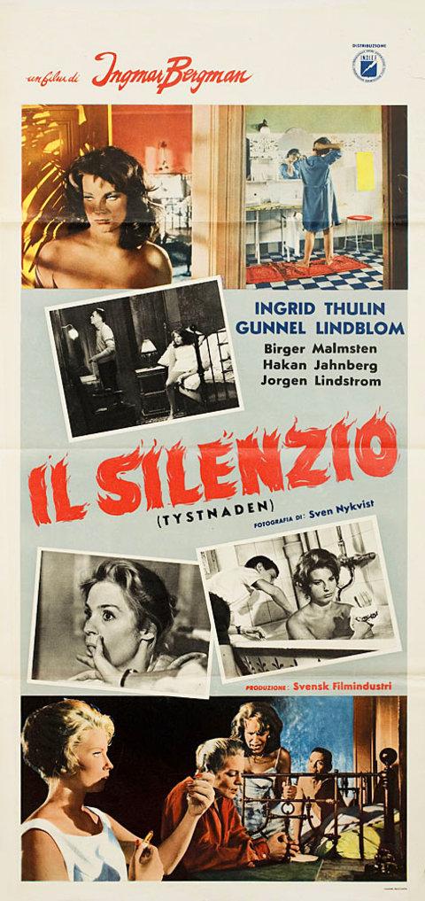The Silence 1963 Italian Locandina Poster