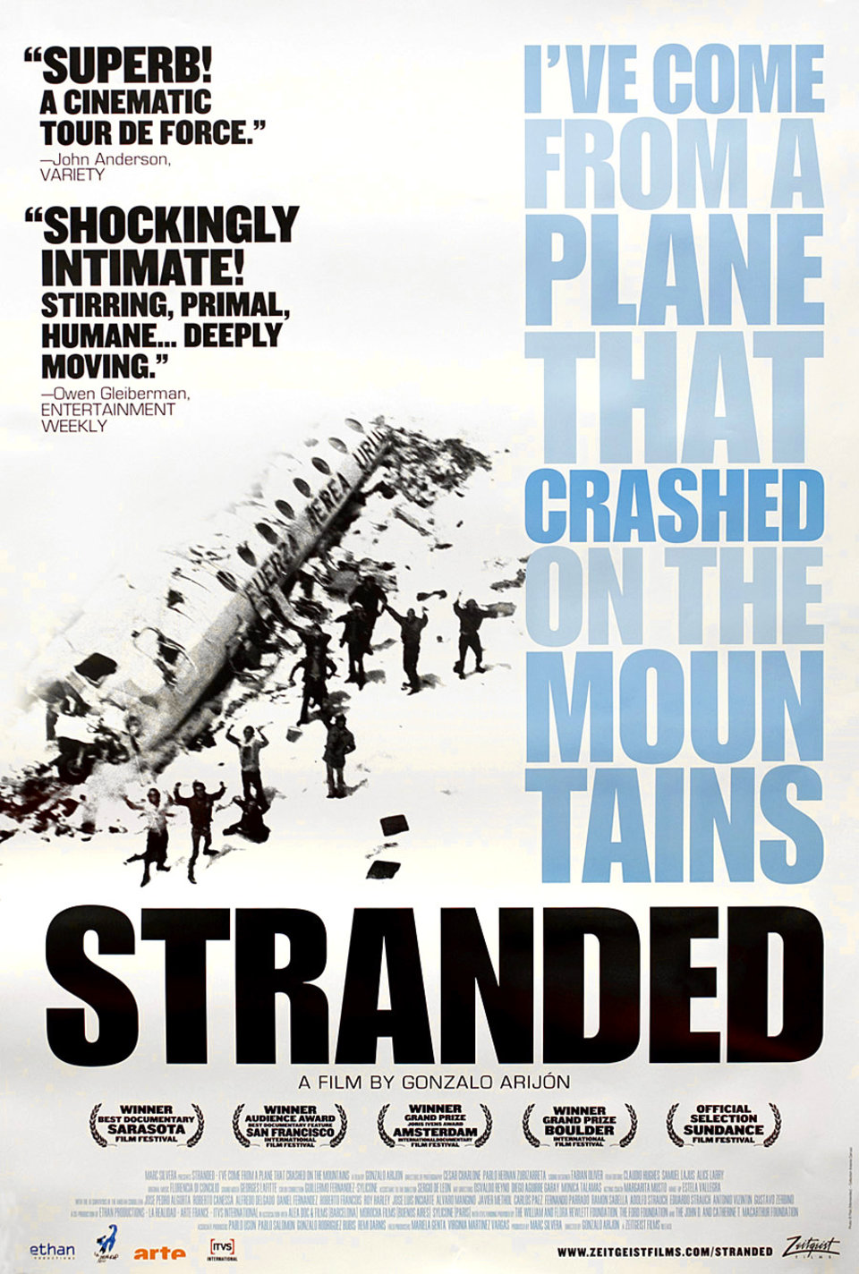 Stranded: I've Come from a Plane That Crashed on the Mountains 2007 U.S. One Sheet Poster