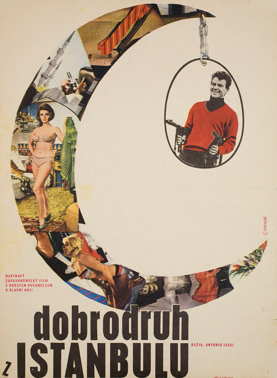 That Man in Istanbul 1967 Czech A3 Poster