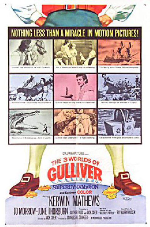 The 3 Worlds of Gulliver 1960 U.S. One Sheet Poster