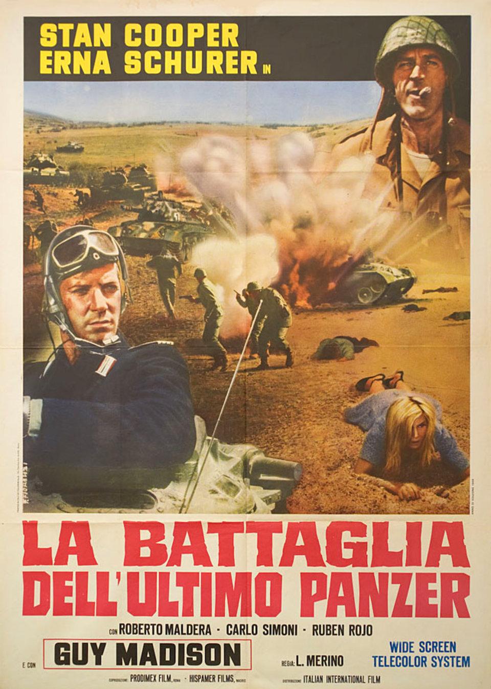The Battle of the Last Panzer 1969 Italian Due Fogli Poster