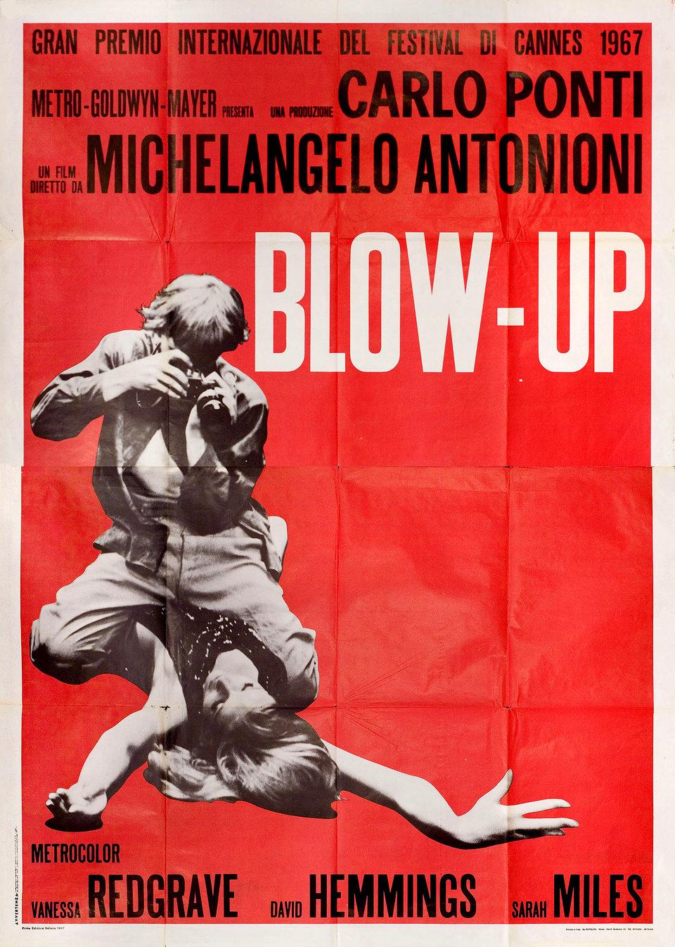 Blow-Up 1967 Italian Quattro Fogli Poster