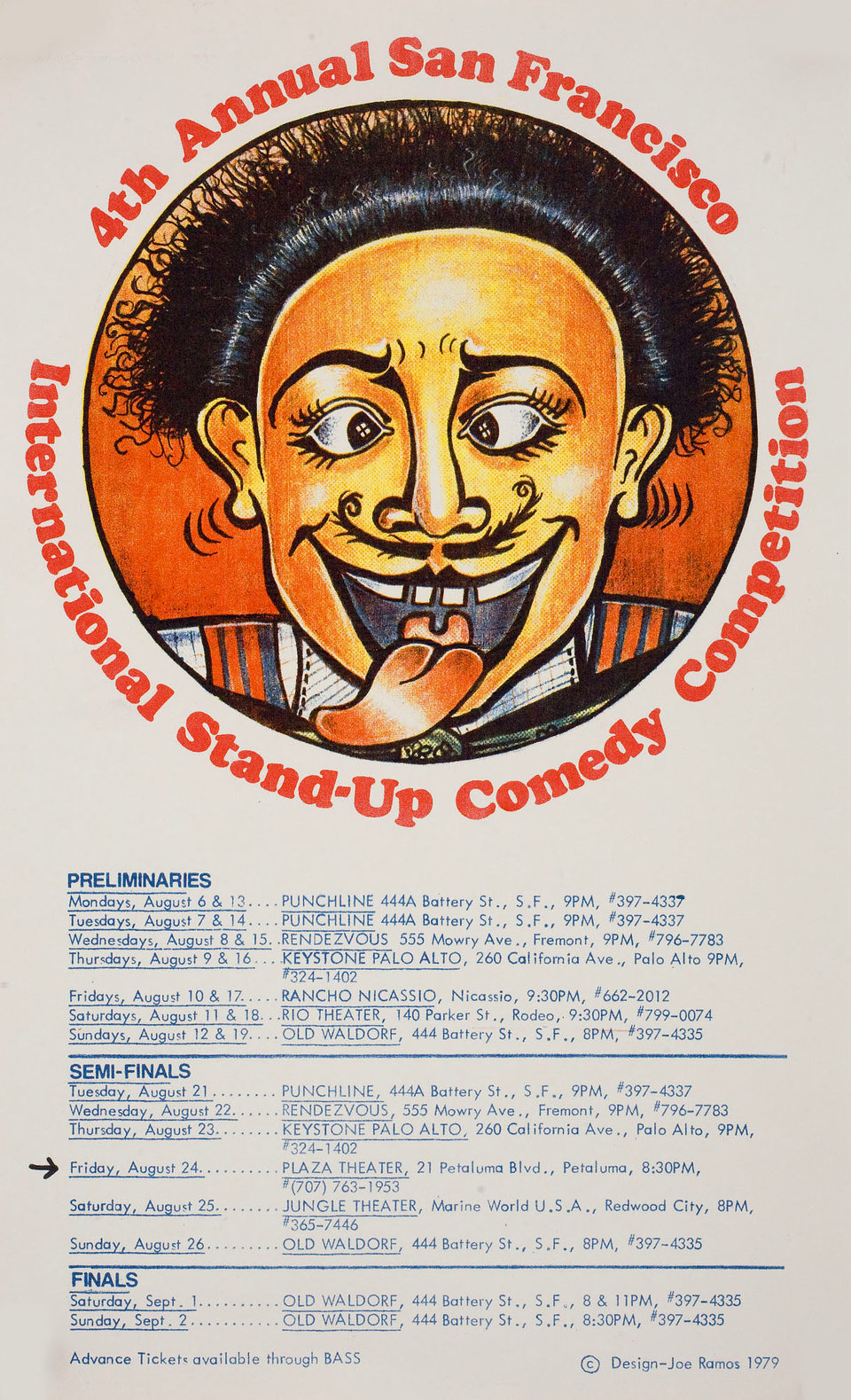 4th Annual San Francisco International Stand-up Comedy Competition 1979 U.S. Mini Poster