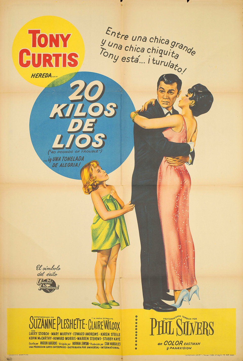 40 Pounds of Trouble 1963 Argentine Poster