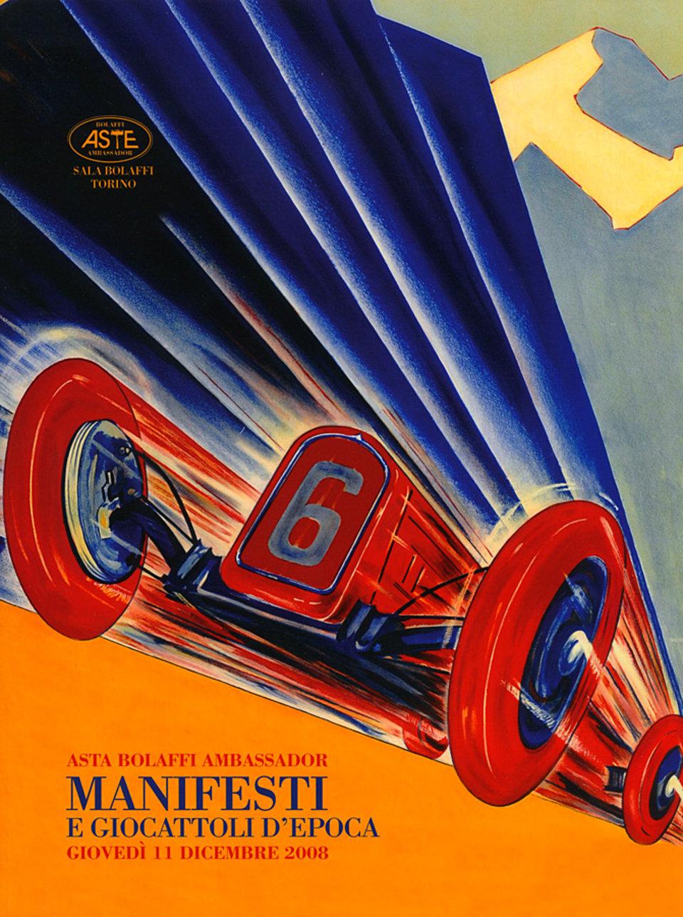 Asta Bolaffi Ambassador: Manifesti 2008 Italian Catalog
