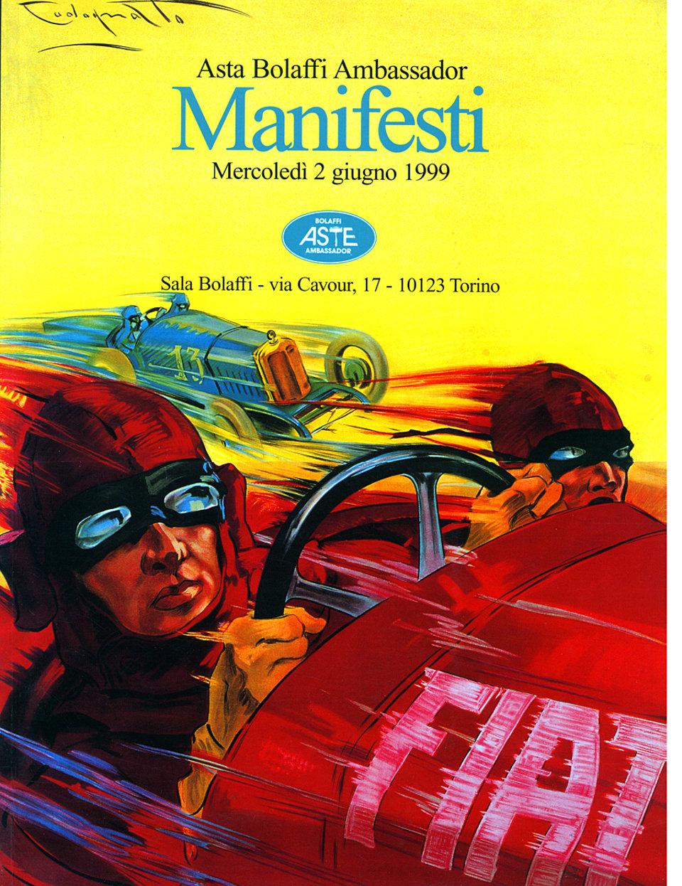 Asta Bolaffi Ambassador: Manifesti 1999 Italian Catalog