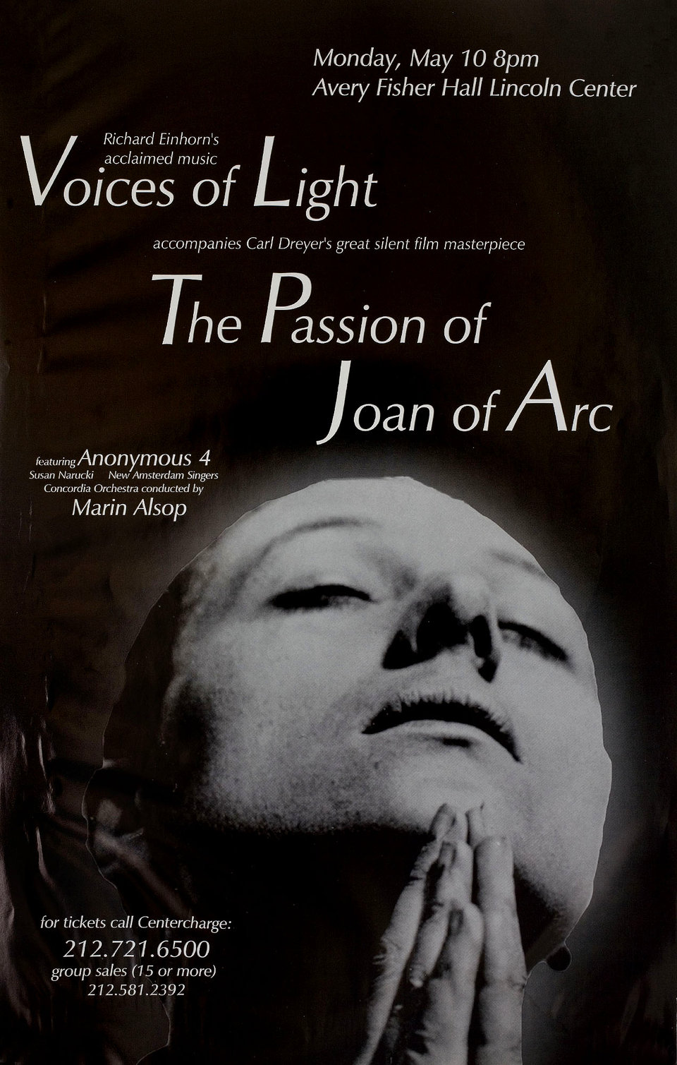 The Passion of Joan of Arc R1999 U.S. Window Card Poster