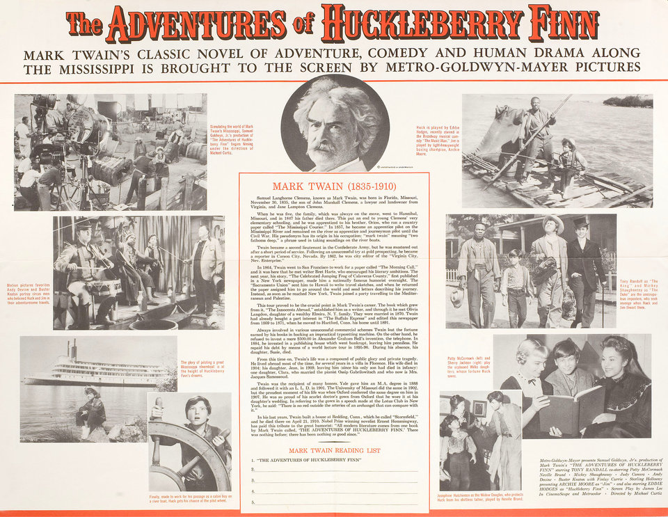 The Adventures of Huckleberry Finn 1960 U.S. Mini Poster