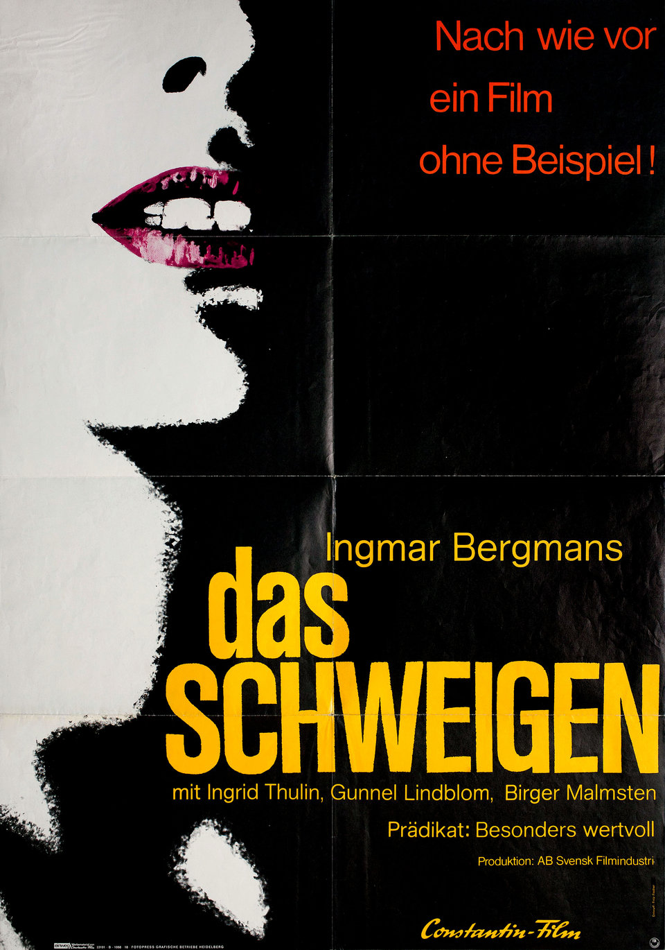 The Silence R1968 German A1 Poster