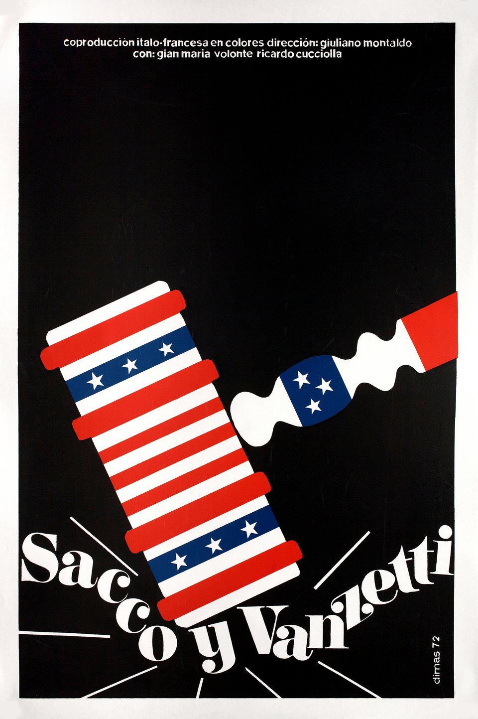 Sacco & Vanzetti R1990s Cuban Serigraph Poster