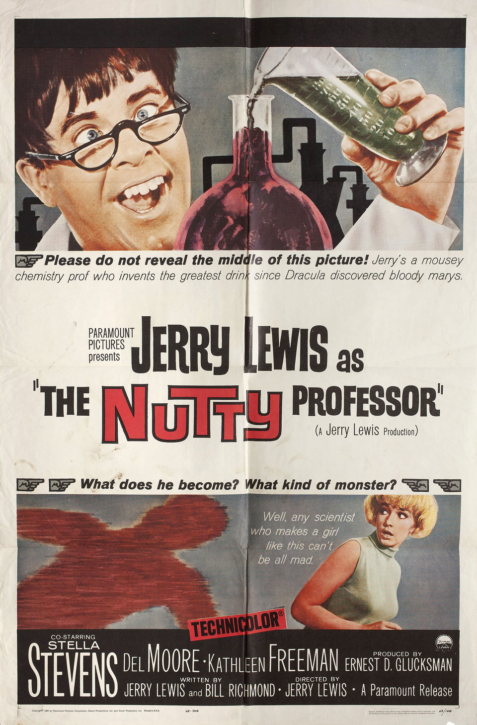 The Nutty Professor 1963 U.S. One Sheet Poster