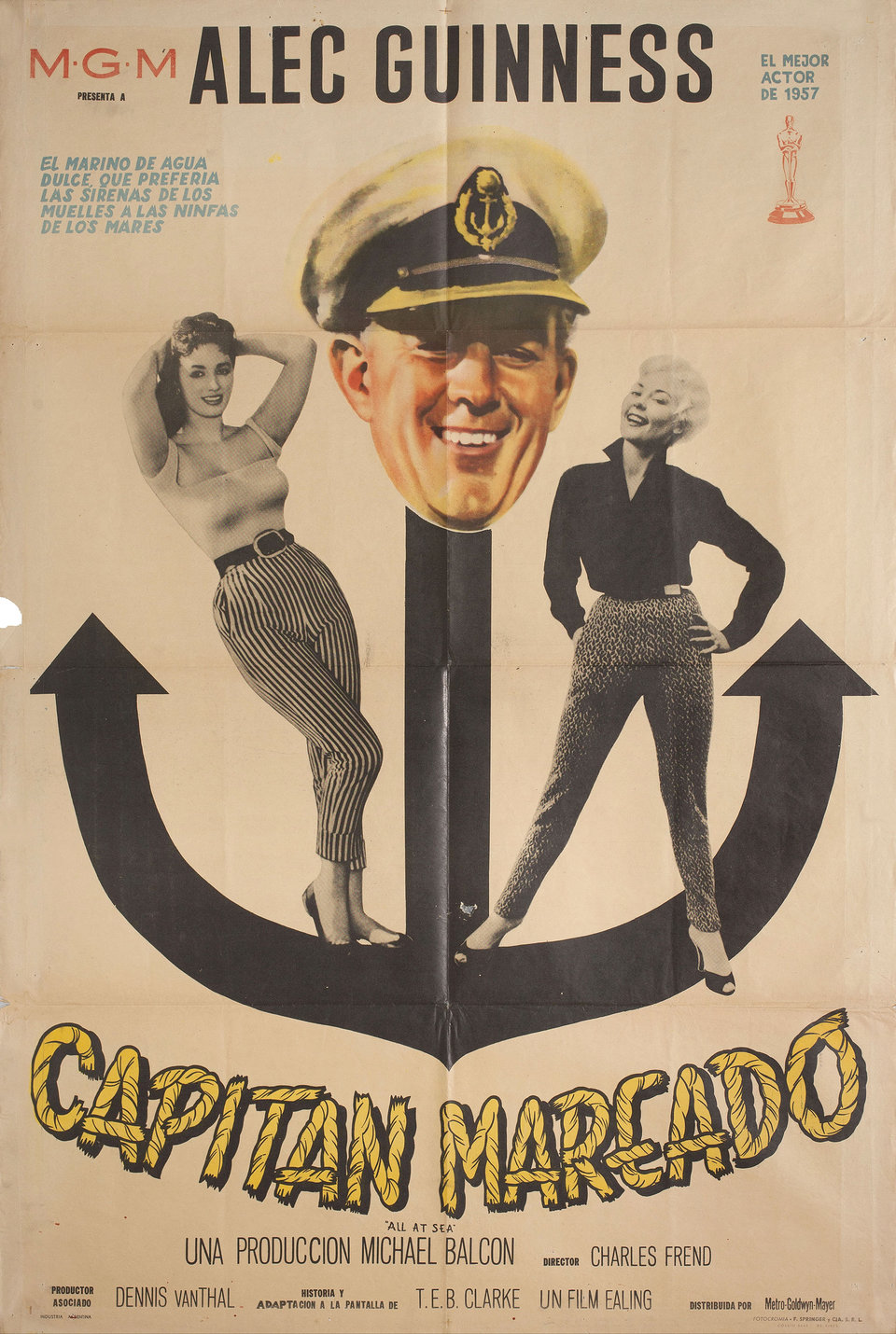 All at Sea 1957 Argentine Poster