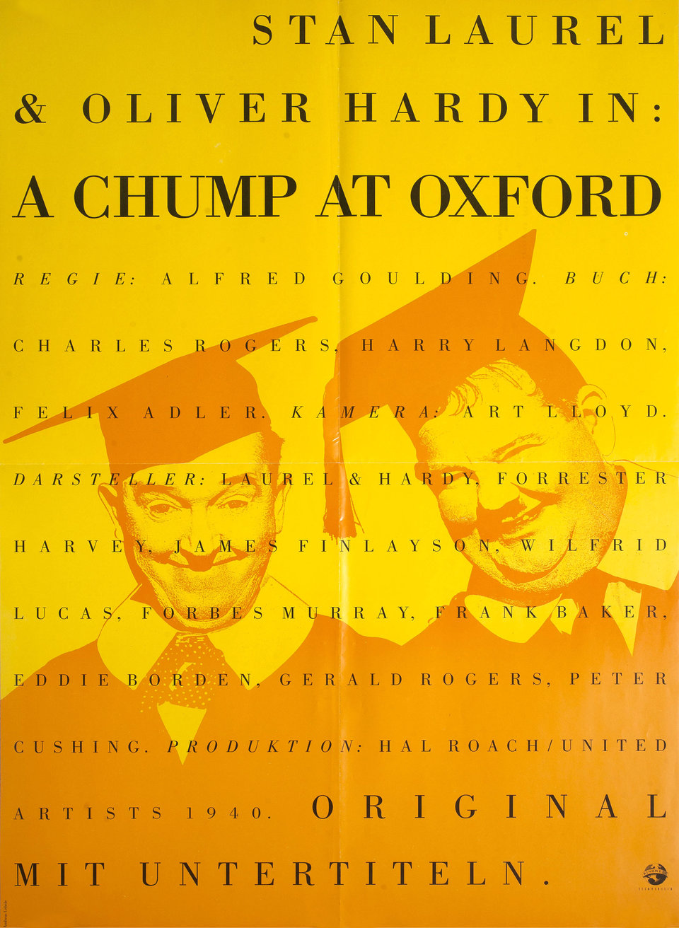 A Chump at Oxford R1990s German A1 Poster