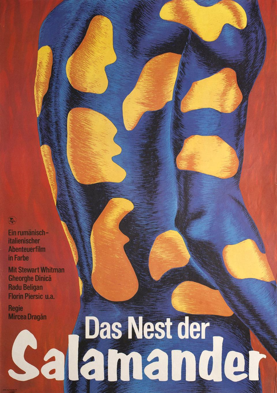 Cuibul salamandrelor 1978 East German A1 Poster