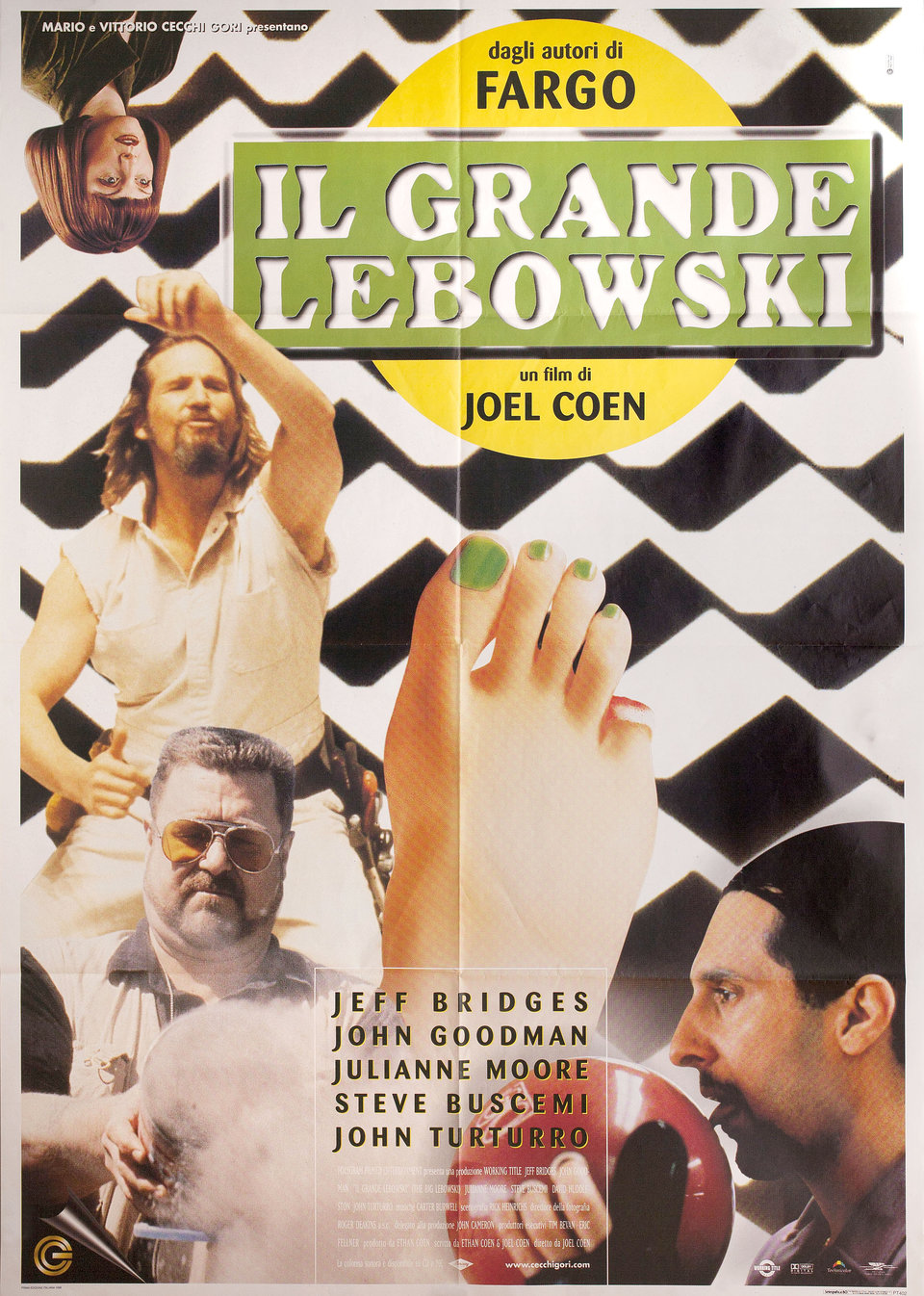 The Big Lebowski 1998 Italian Due Fogli Poster
