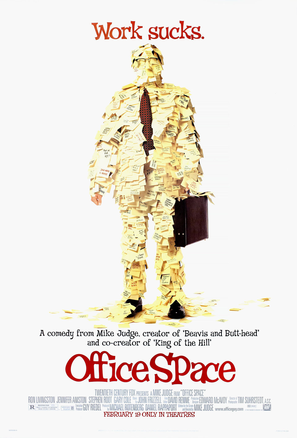 Office Space 1999 U.S. One Sheet Poster