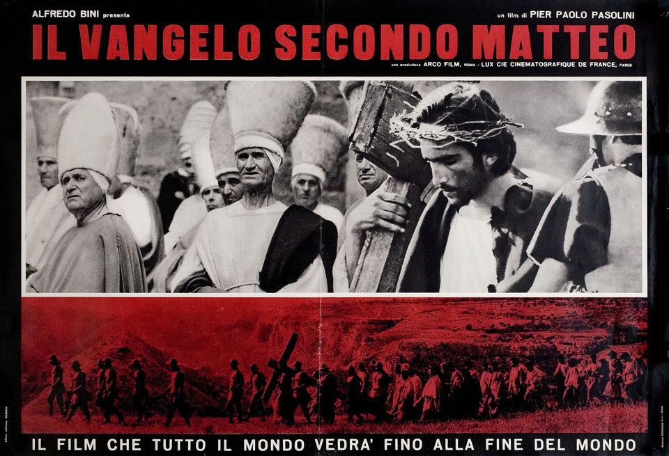The Gospel According to St. Matthew 1964 Italian Fotobusta Poster