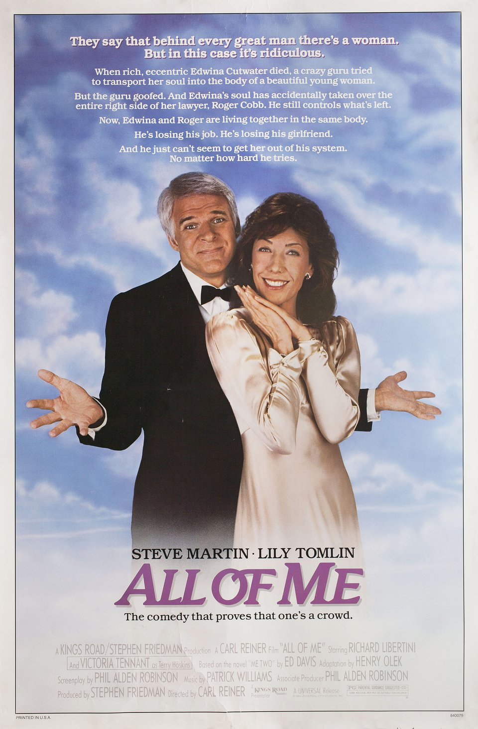 All of Me 1984 U.S. One Sheet Poster