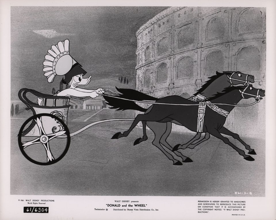 Donald and the Wheel 1961 U.S. Silver Gelatin Single-Weight Photo