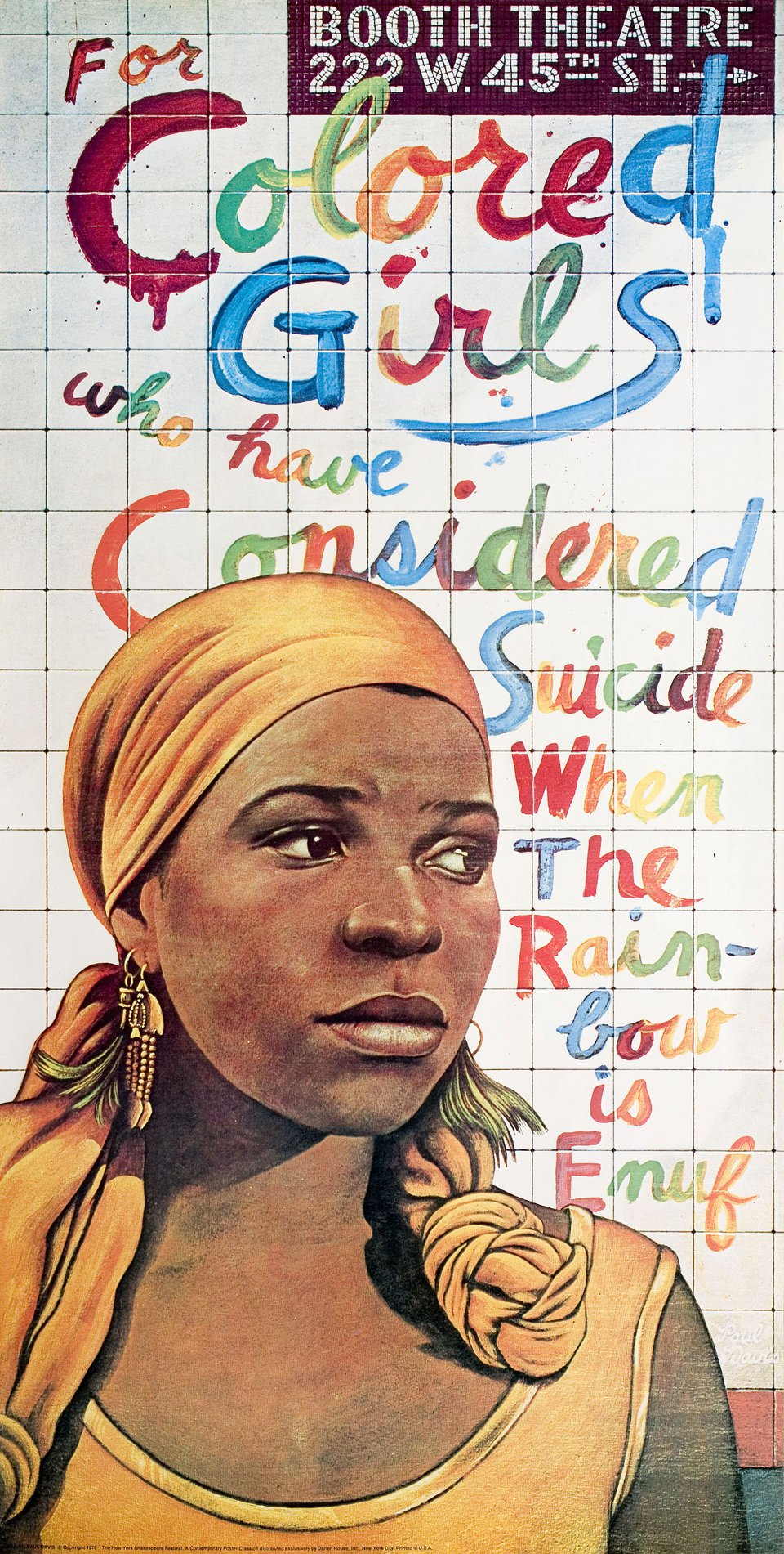 For Colored Girls Who Have Considered Suicide / When the Rainbow Is Enuf 1976 U.S. Commercial Poster