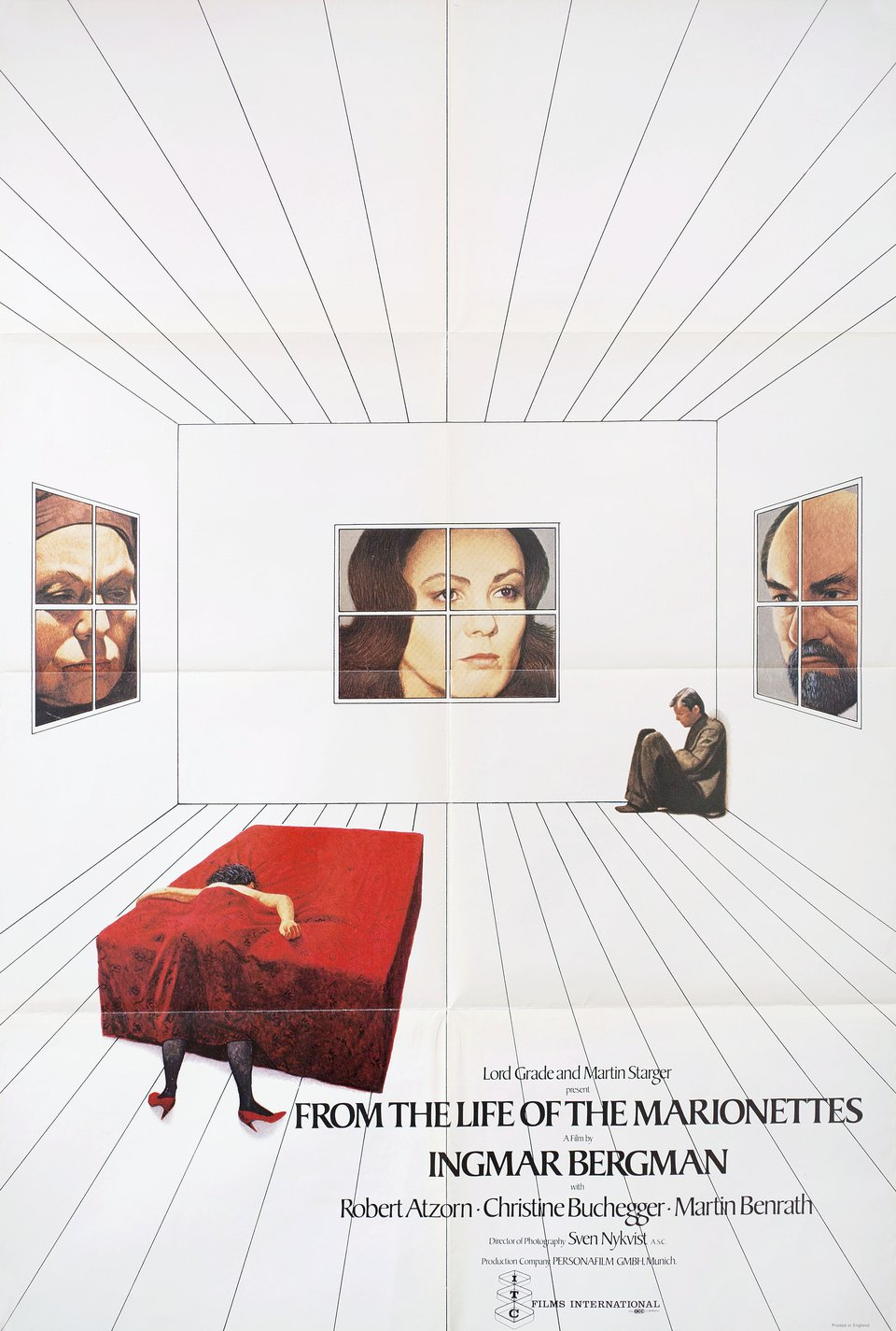 From the Life of the Marionettes 1980 British One Sheet Poster