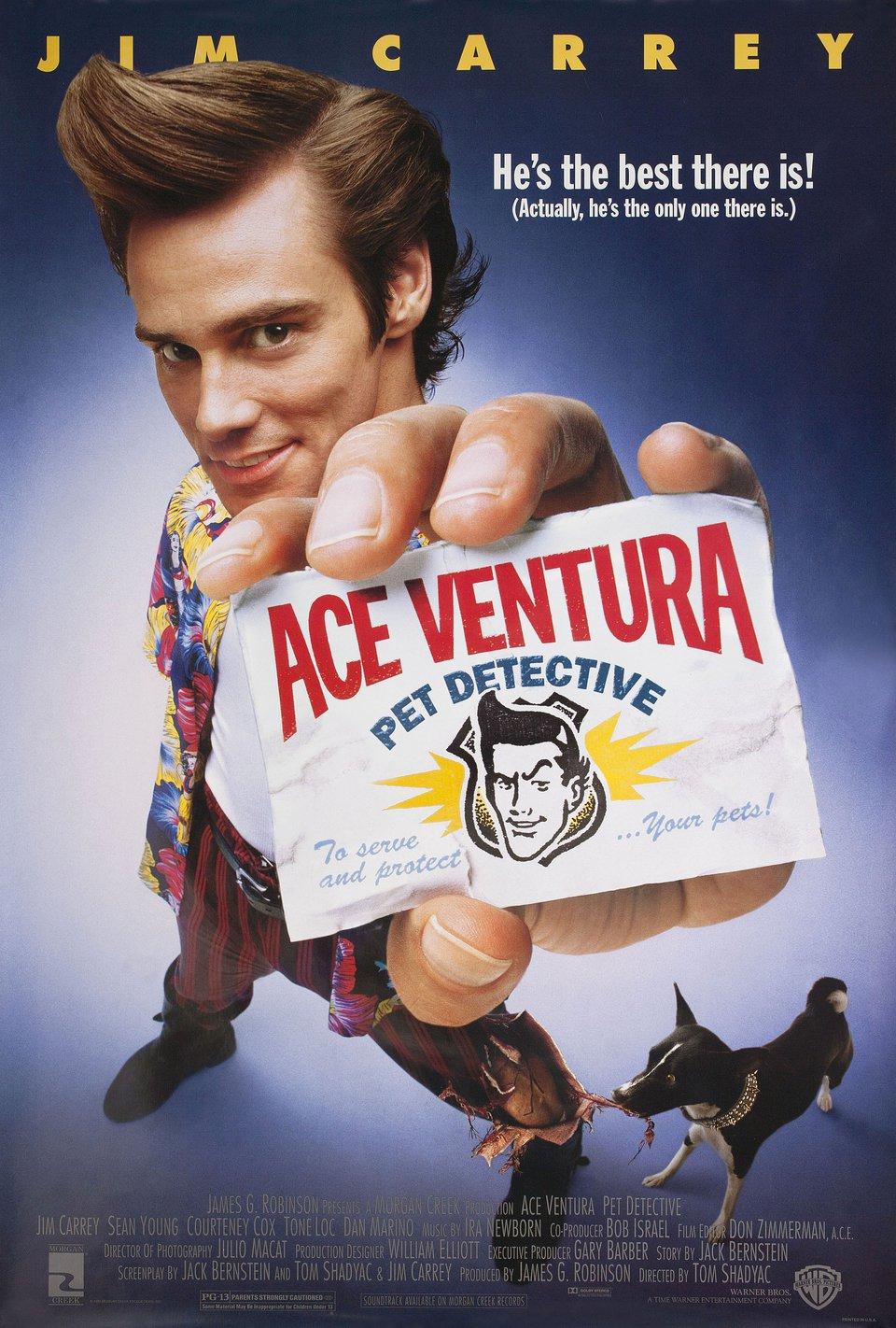 Ace Ventura: Pet Detective 1994 U.S. One Sheet Poster