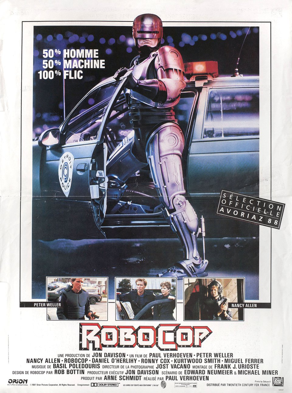 RoboCop 1987 French Petite Poster