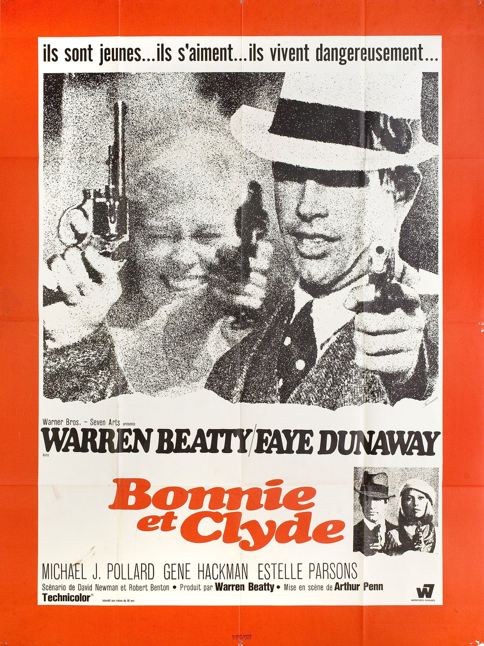Bonnie and Clyde 1967 French Grande Poster