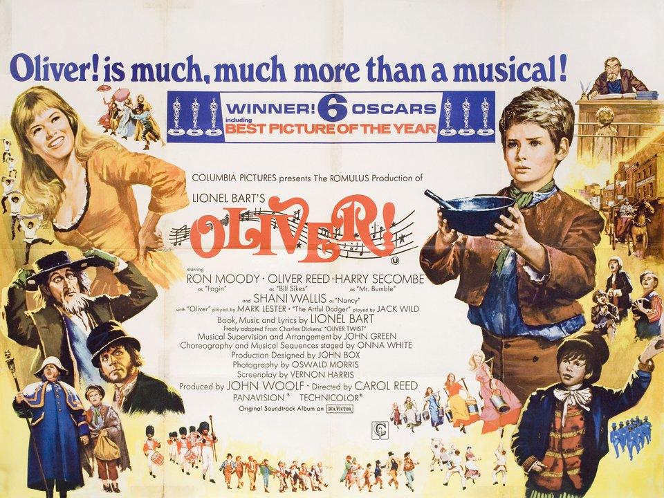 Oliver! 1968 British Quad Poster