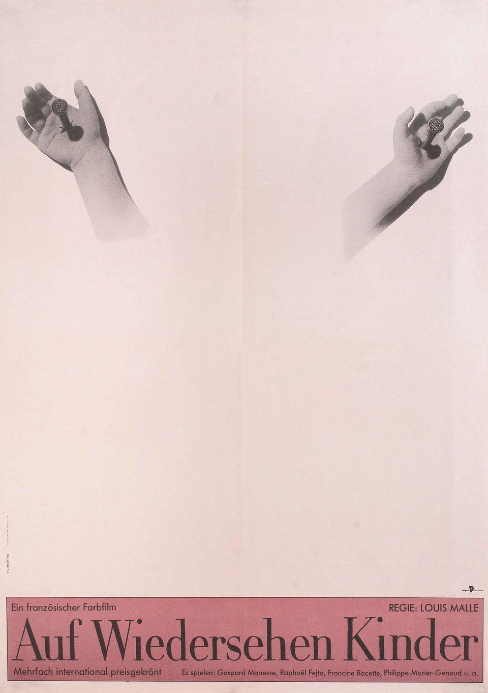 Au Revoir Les Enfants 1988 East German A1 Poster