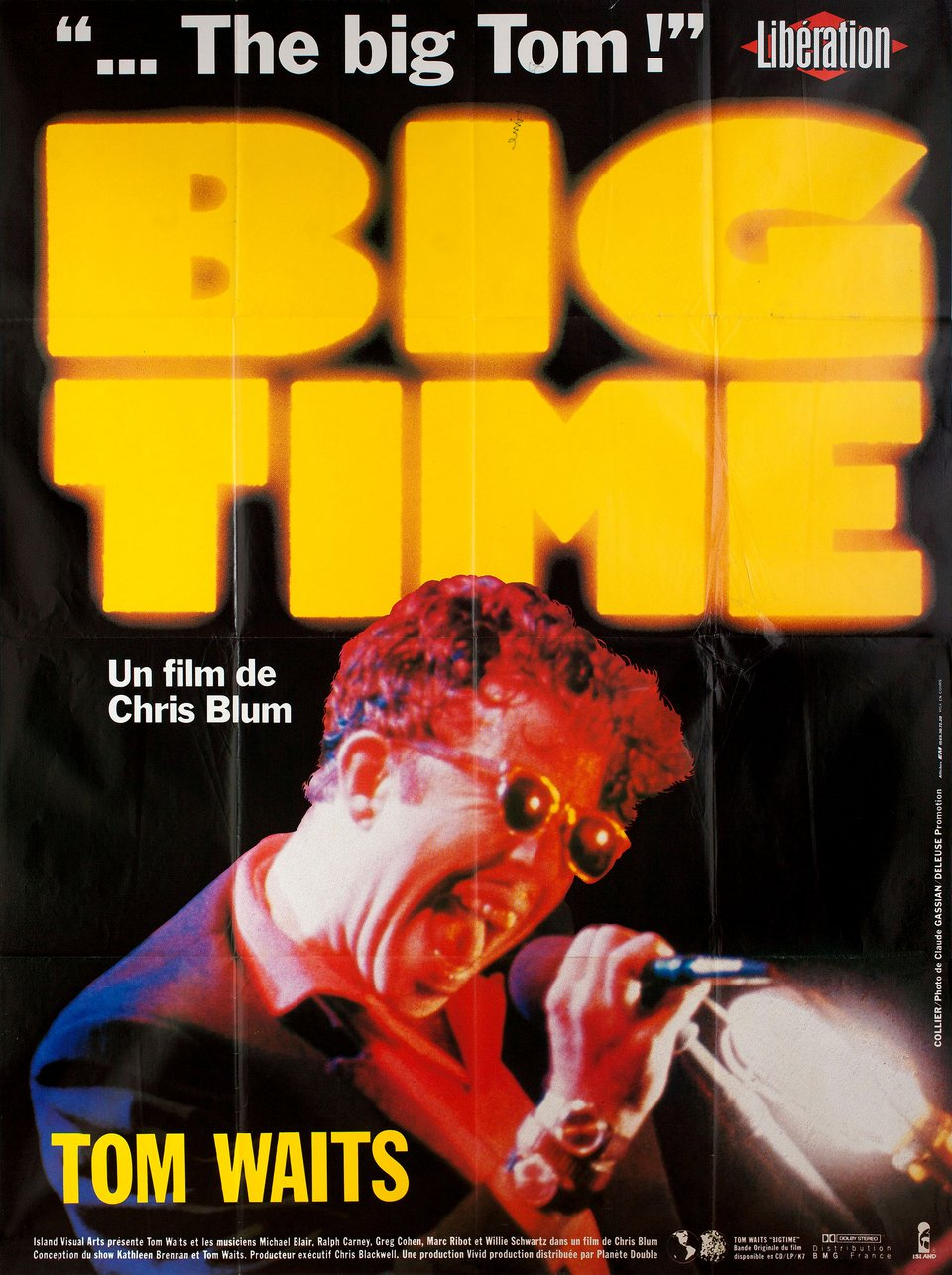 Big Time 1988 French Grande Poster