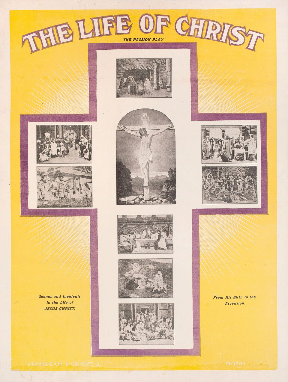 The Passion Play 1907 U.S. B2 Poster
