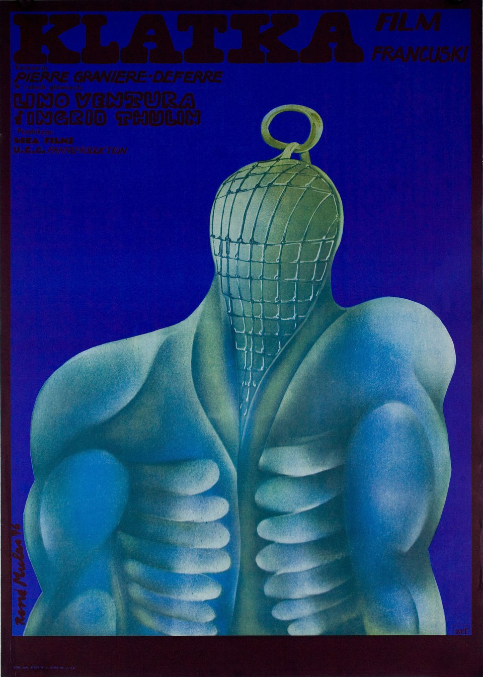 The Cage 1976 Polish A1 Poster