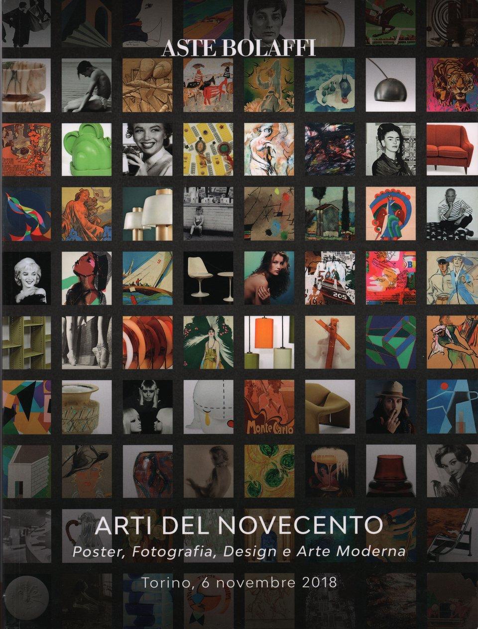 Arti Del Novecento: Poster, Fotografia, Design E Arte Moderna 2018 Italian Catalog