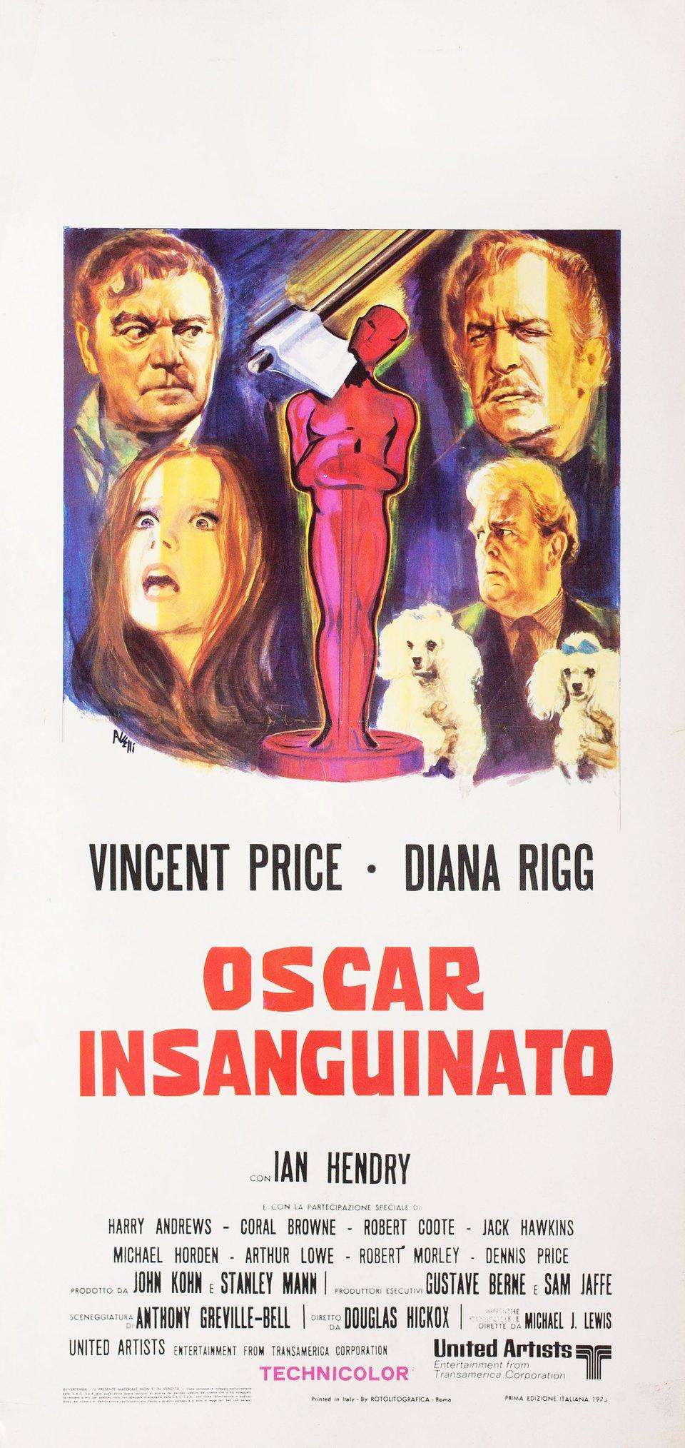 Theatre of Blood 1973 Italian Locandina Poster