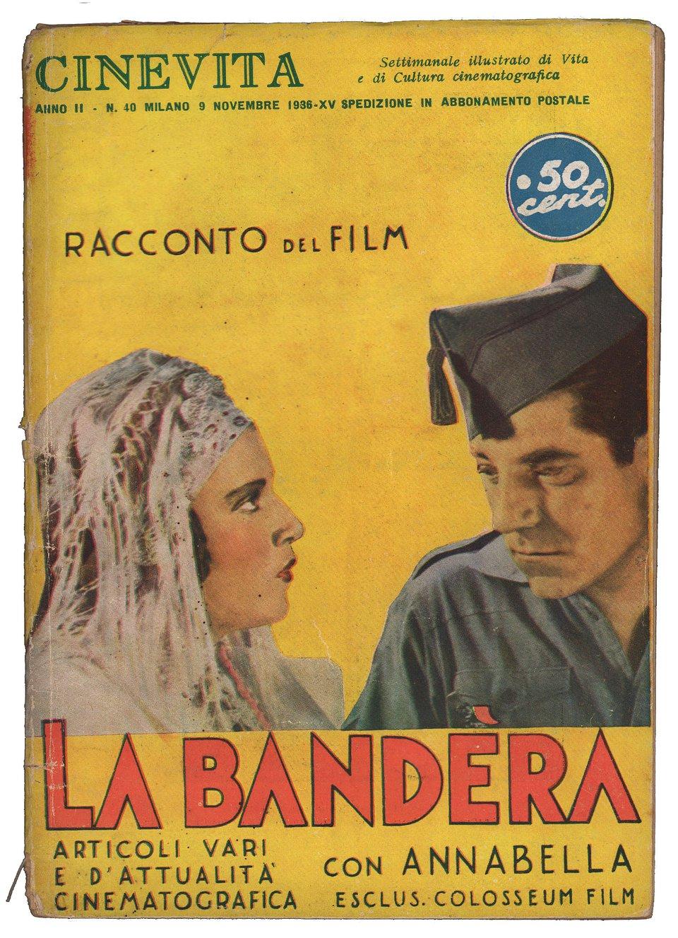 La bandera 1935 Italian Magazine