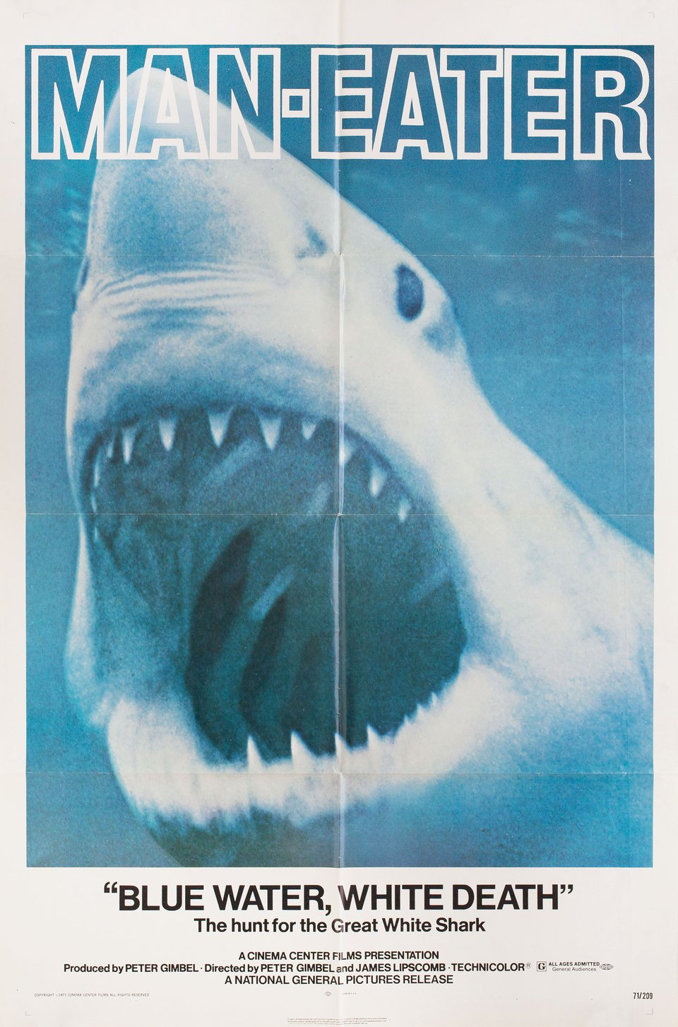 Blue Water, White Death 1971 U.S. One Sheet Poster