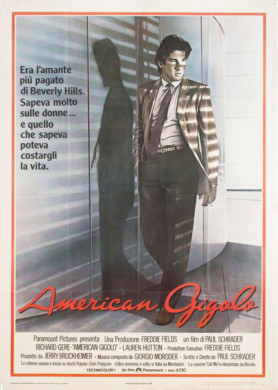 American Gigolo 1980 Italian Due Fogli Poster