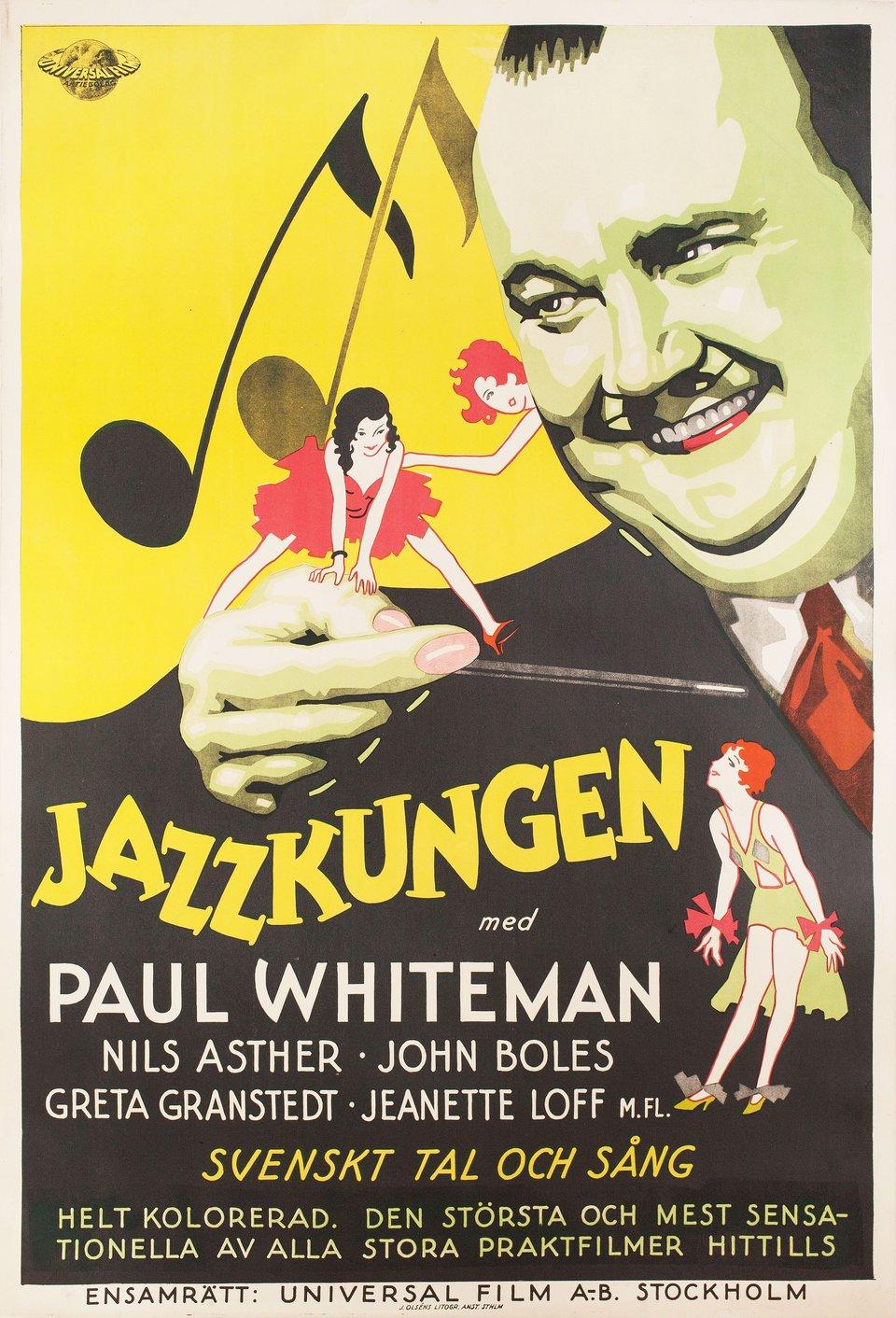 King of Jazz 1930 Swedish B1 Poster