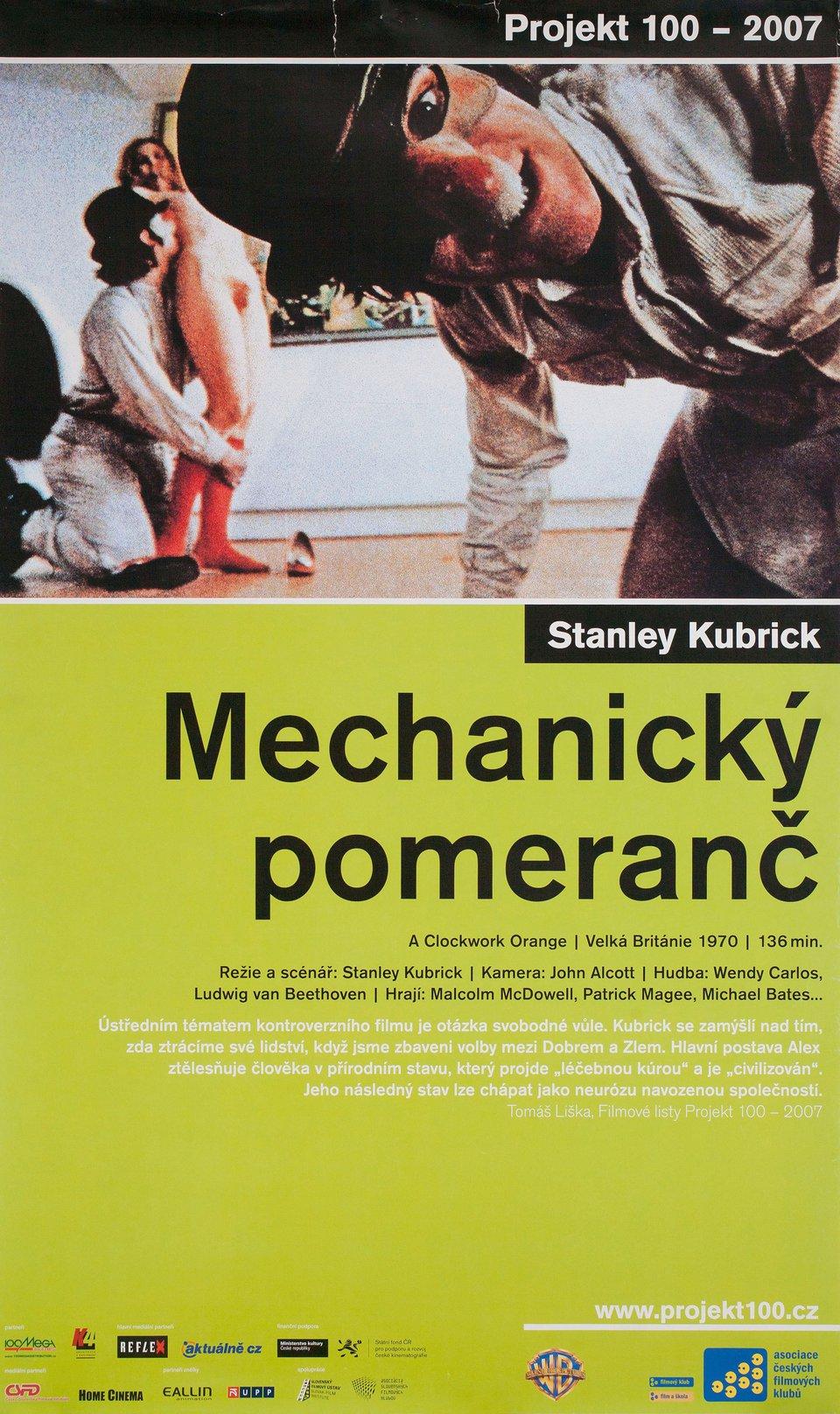 A Clockwork Orange R2007 Czech A1 Poster
